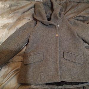 Manteau à col enveloppant